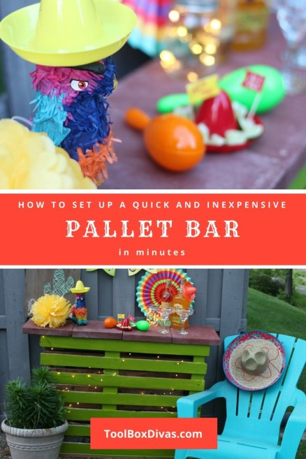 DIY Mobile Pallet Bar for indoor and outdoor use - Toolbox Divas