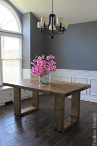 I Teamed Up With Jen From The House Of Wood To Make This Lovely Modern  Dining Table.