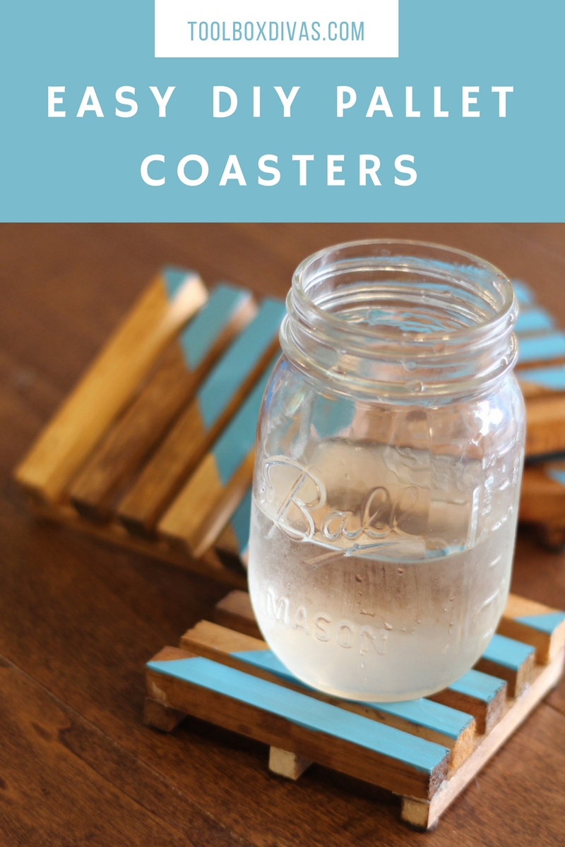 Guests have no excuse when visiting with these super cute coasters.  These pallet style DIY coasters are super easy to make and crazy inexpensive.