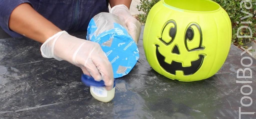 Easy Halloween DIY Project pumpkin fire pit - Toolboxdivas 4