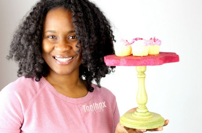 Toolbox Divas Mini Cake Stand shaped like a rose 2