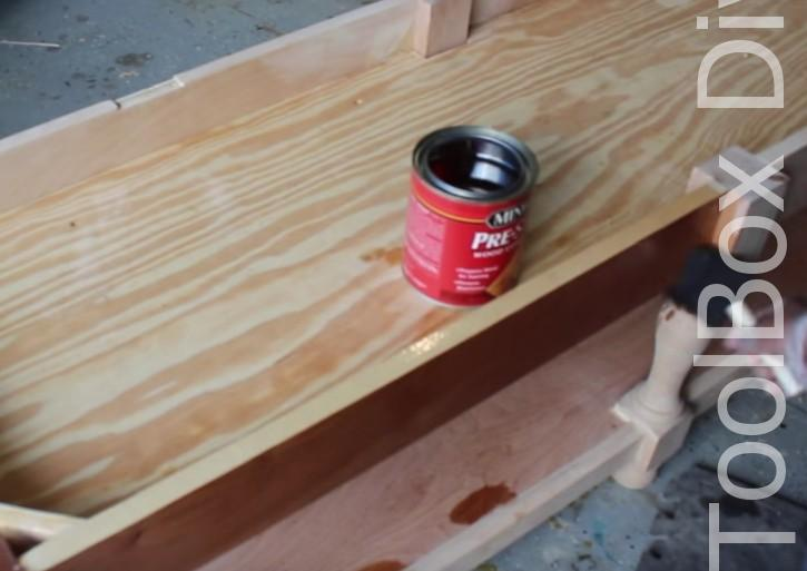 How to Build A DIY Tufted Bench - Toolbox Divas 30