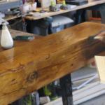 How To Build A Rustic Faux Beam Mantel Toolbox Divas