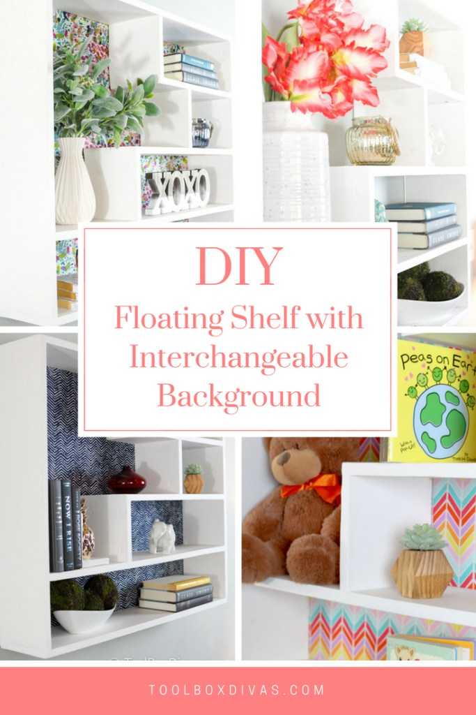 DIY Floating Bookshelf - Toolbox Divas