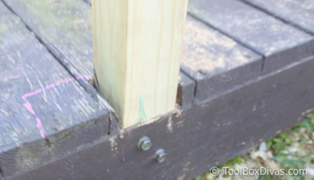 How To Easily Build and Install Deck Railing - ToolBox Divas
