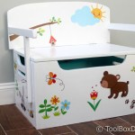 Desk And Bench Set W Toy Box Storage Toolbox Divas