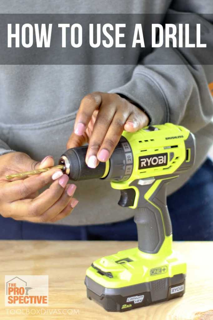 Lean how to use a drill in this easy to follow tutorial by @Toolboxdivas