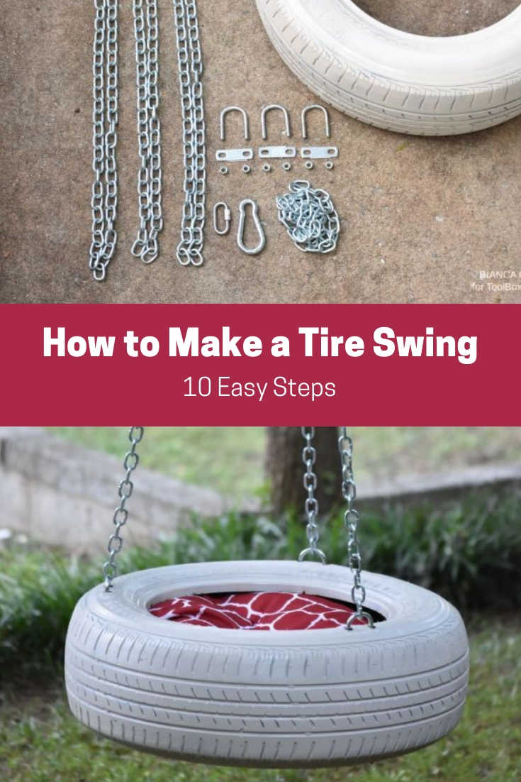 How To Make A Tire Swing In 10 Easy Steps Toolbox Divas