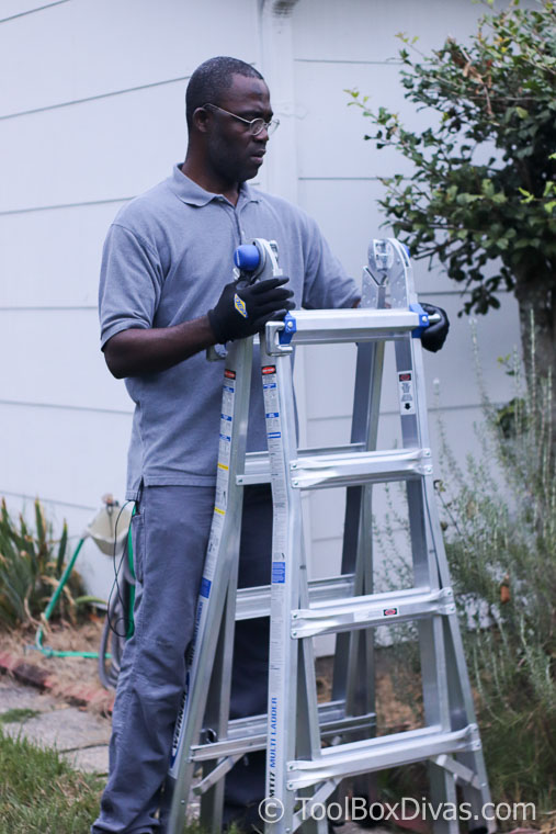 Werner 5-in-1 Telescoping 18 ft. Reach Aluminum Multi-Position Ladder with 375 lbs. Load Capacity Toolbox Divas Tool Review-1