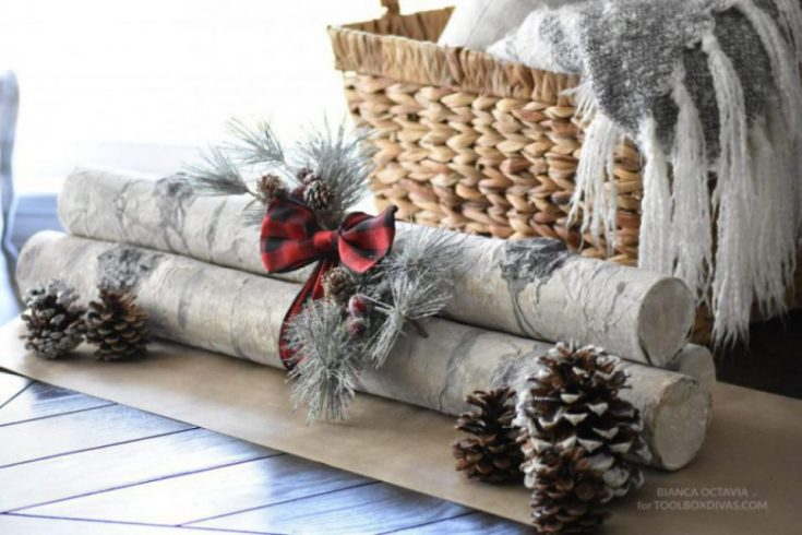 How to Make DIY Faux Birch Logs