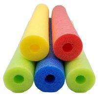 Fix Find 52 Inch Colorful Foam Pool Swim Noodle 5 Pack in Bright Jewel Tone Multicolors