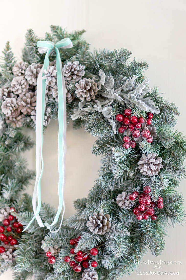 Winter Wreath ideas recycle Christmas into the Winter Decorations @ToolBox Divas