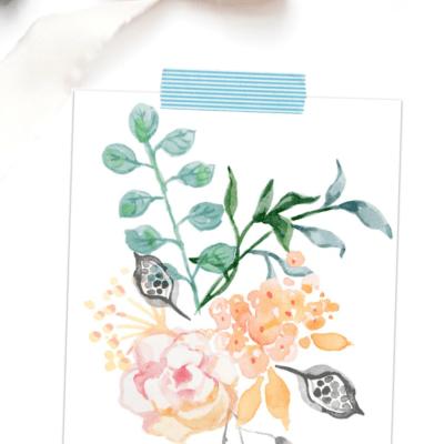 watercolor spring printable art