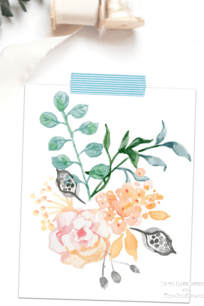 watercolor spring printable art