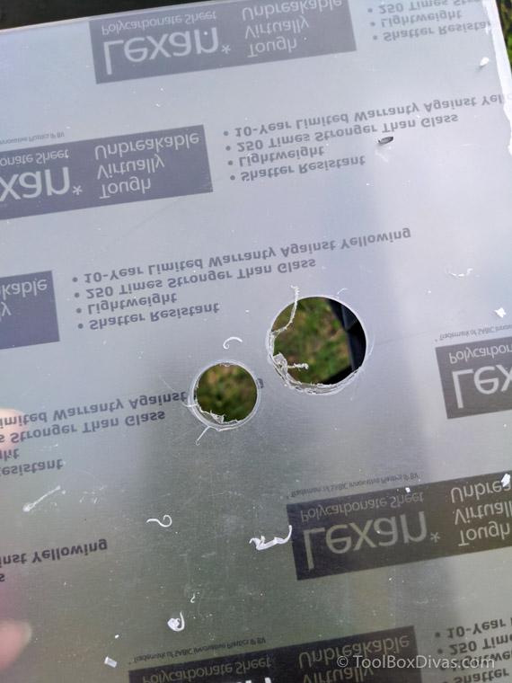Step drill bit drill into acrylic or plastic