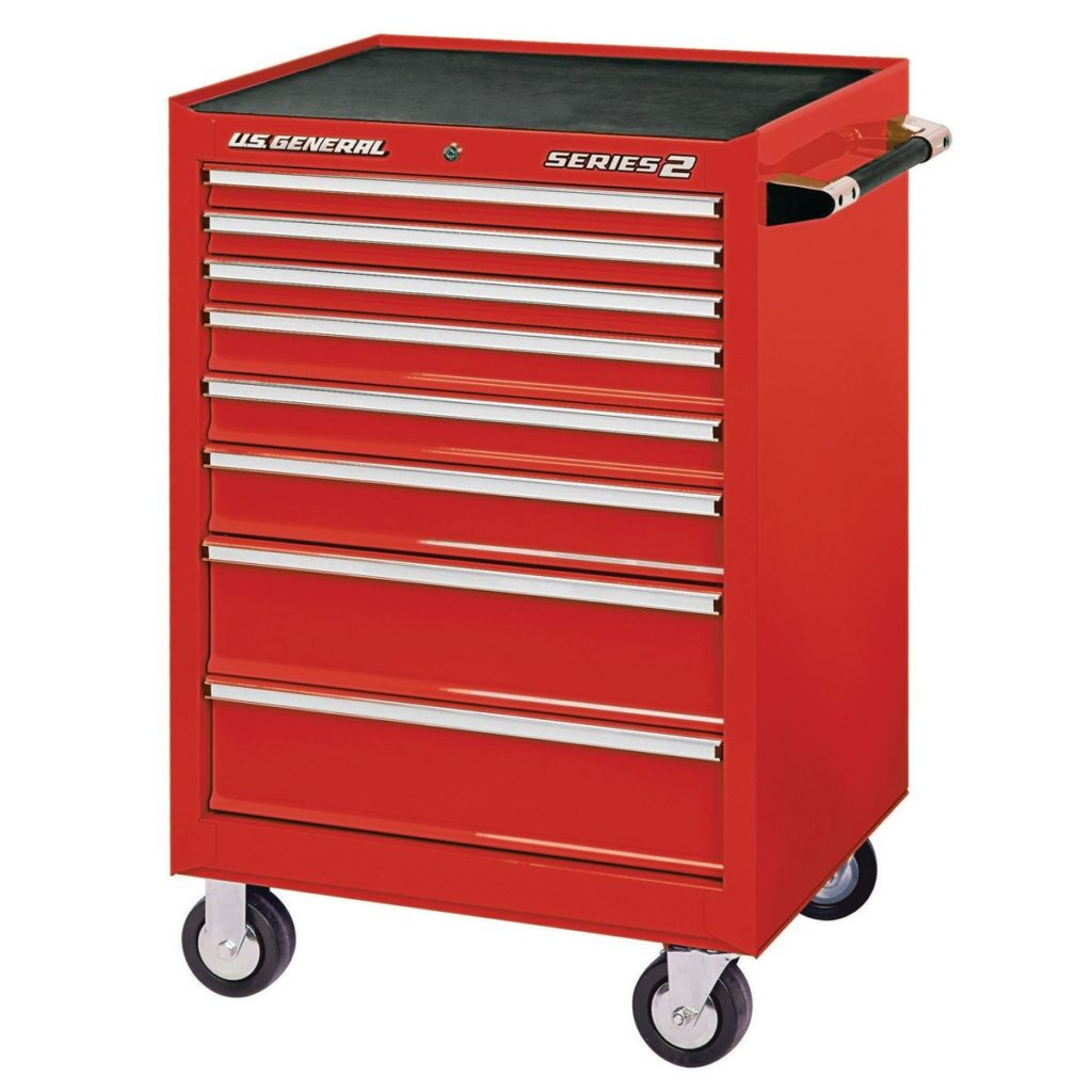 Harbor Freight 5 Drawer Tool Cart Box Size
