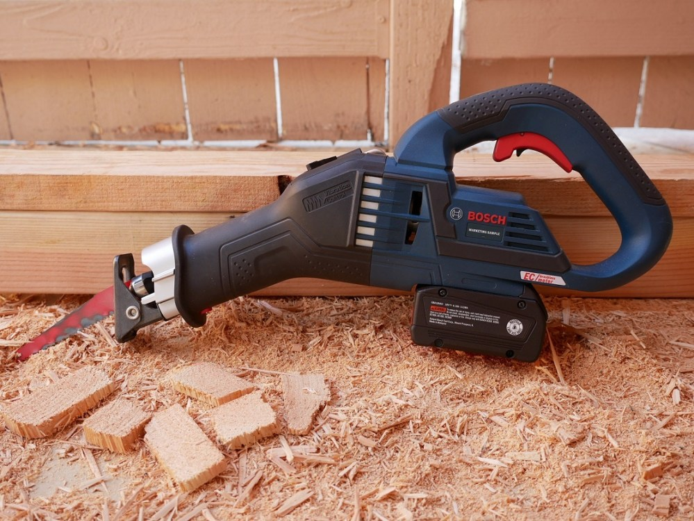 medium resolution of  reciprocating saw the bosch gsa18v 125 18v ec brushless 1 1 4 in stroke multi grip reciprocating saw and will discuss it s feature set and performance
