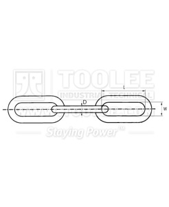 300 5191 Chain DIN5685 C Long Link drawing