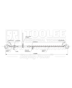 300 7220 Load Lashing Chain System LLA Type Drawing