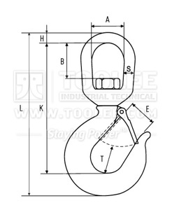 300 1309 Swivel Hook G43 322C Drawing