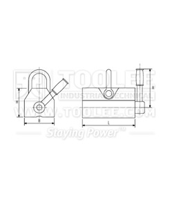 300 9301 Permanent Magnetic Lifting Drawing