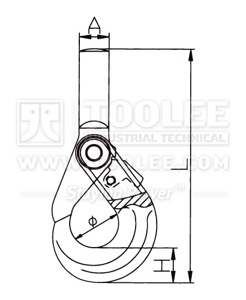 300 1213 Safety Hook Shank Type With Self Locking Latch G80 U S Type drawing