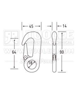 300 500 3216 Rope Hook Drawing WM