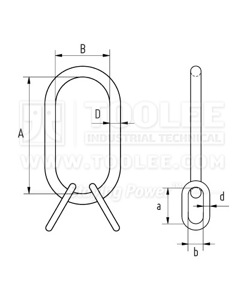 300 1513 Master Link Assembly MTC Heavy Drawing