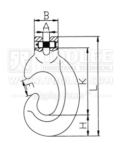 300 1249 C Hook Clevis Type G80 drawing