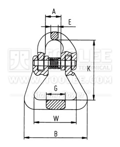 300 1604 Connecting Link For Webbing Strap drawing