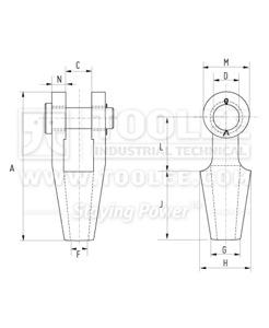 300 2401 Open Spelter Socket drawing