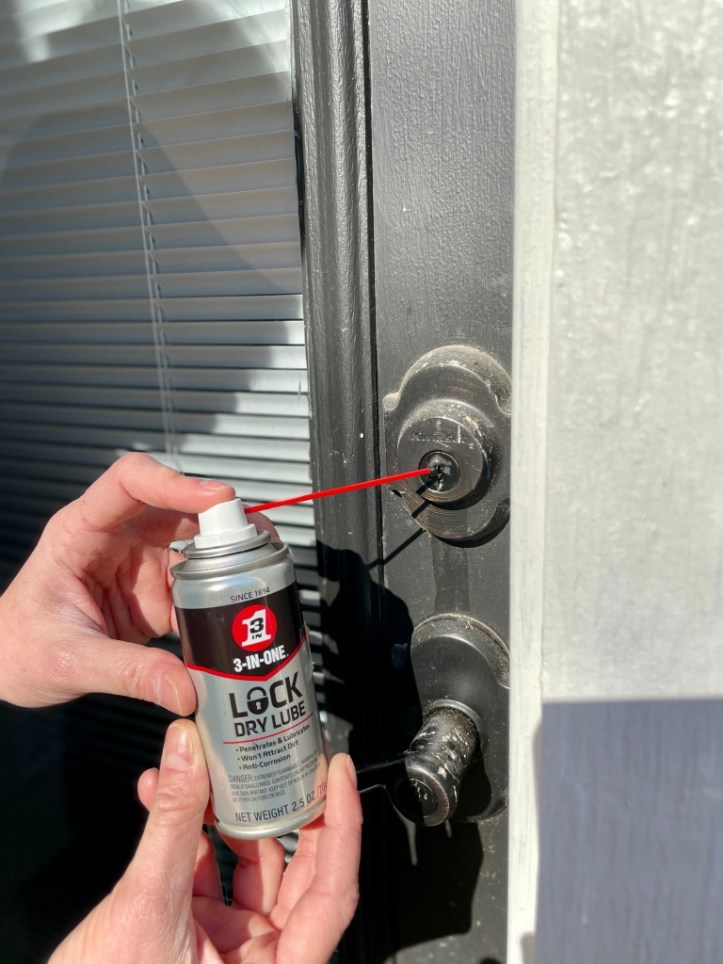Fixing Stuck Locks with 3-IN-ONE ® Lock Dry Lube