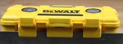 Dewalt Magnetic ToughCase Hanging from Hooks