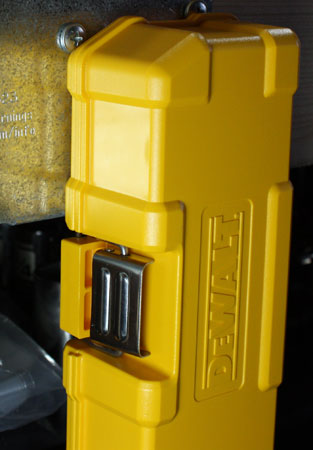 Dewalt Magnetic ToughCase Supported by a Single Magnet