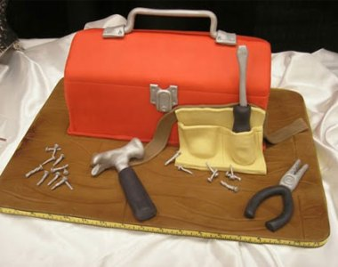 Cake Wrecks Toolbox with Tools Cake