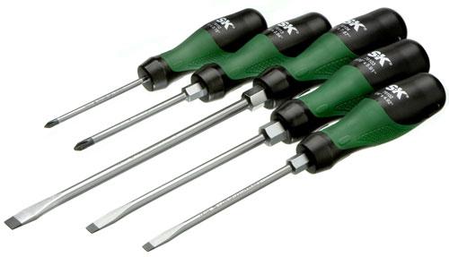 SK Hand Tools Tri-Molded Screwdriver Set