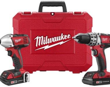 Milwaukee 18-Volt Cordless Drill Impact Driver Combo 2691-22