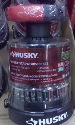 Husky Tri-Grip Screwdriver Set