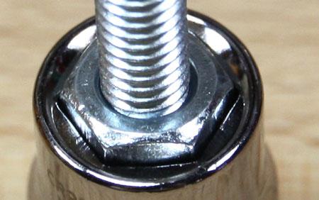 Kobalt Multi Drive Wrench Metric 6pt Socket M6 Bolt Test Closeup