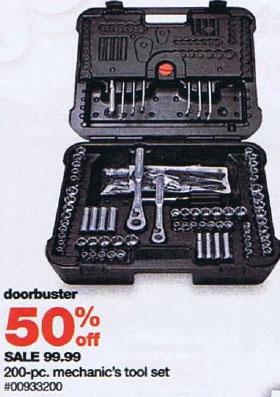 Sears Black Friday 2010 DoorBuster Craftsman Mechanics Tool Kit