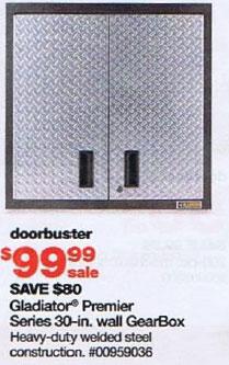 Sears Black Friday 2010 DoorBuster Gladiator Premier 30 inch GearBox