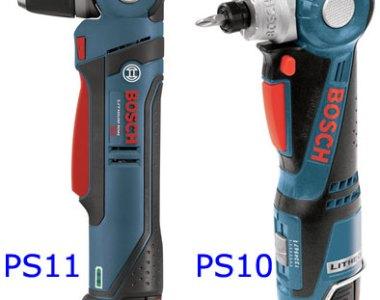 Bosch PS11 vs PS10 Right Angle Drill Drivers
