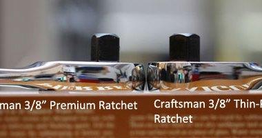 Craftsman Premium vs Thin-Profile Ratchet Height Comparison