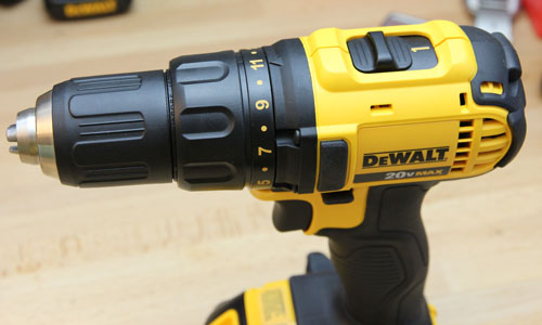 Dewalt 20V Drill DCD780C2 Top Side View