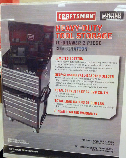 Craftsman Limited Edition Ball Bearing Storage Combo Review