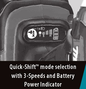 Makita Impact Driver with Quick-Shift Mode