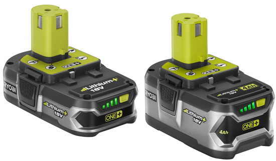 Ryobi One Plus Lithium Plus Battery Packs