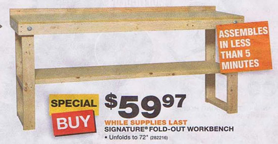wooden workbench kits home depot