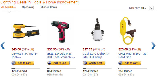 Amazon Lightning Deals 12-5-12 Page 1