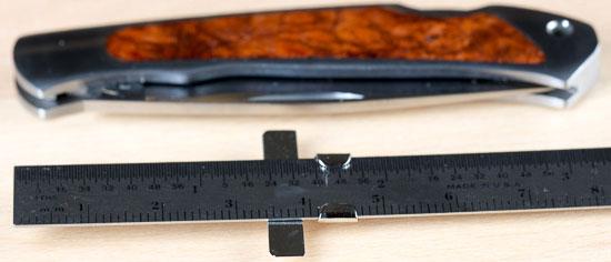 Moki Ezo Red Fox Knife Length